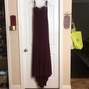 Jovani size 6 eggplant dress